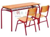 研究室のための学校DeskおよびChairかWooden Double School Desk /Cast Iron TableおよびChair