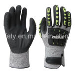 Перчатка безопасности работы Анти--Удара (TPR9014)