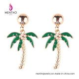 Neues Ankunfts-Gold überzogene Kokosnuss-Baum-Form-nachgemachte Schmucksache-Form-Ohrringe