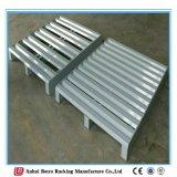 Talla estándar de la paleta de la paleta de acero amontonable resistente