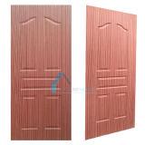 Madera contrachapada moldeado/del laminado 9 del panel de la puerta de la piel de la talla con Sapeli natural