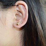 Deux boucles d'oreille multicolores de goujon de Simuler-Perle de Rhinestone de bille de couleurs réglées
