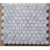 販売のための六角形の形の白い大理石のモザイク