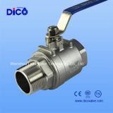 Steel di acciaio inossidabile 2PC Female /Male Ball Valve