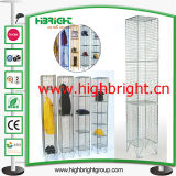 1980 X 305 X 305 Zinc en Colour Wire Mesh Lockers