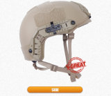 Nij certificó color de color caqui del casco rápido