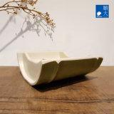 Dîner de la vaisselle Ware Surface mate résistante vert bambou coffre en plastique plat en mélamine de 5 pouces de la plaque (4221-045)