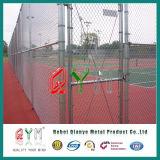 Cerca revestida galvanizada de la conexión de cadena del PVC de la INMERSIÓN caliente para el patio de los deportes