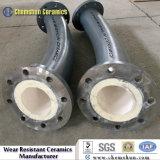 Tubo resistente ao desgaste cerâmicas revestidas com fita adesiva e Peças de Metal