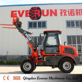 Le macchine agricole di Everun mini caricatore della rotella da 1.2 tonnellate con attaccano la benna
