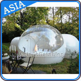 Halbes transparentes aufblasbares Luftblasen-Zelt mit 2 Tunnels für das Kampieren