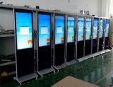 La publicidad con la publicidad LCD de visualización de video con Ruedas