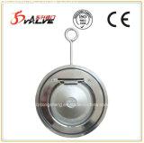 Válvula de verificação fina do balanço da bolacha do aço inoxidável