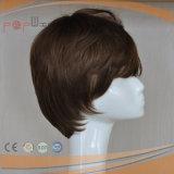 Breve parrucca fatta a macchina dei capelli umani (PPG-l-0630)