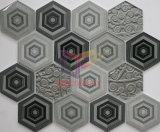 Mosaico di vetro di esagono beige di colore di uso della cucina (CFC660)