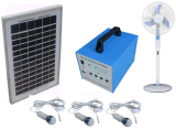 Energie - besparing 100% 40W Solar Home Power System met LED Lights Fans en TV Sets