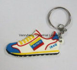 Borracha macia Keychain do PVC do costume 3D