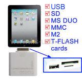 5+1 в 1, устройство считывания карт памяти для iPad 2/3 (KIPAD-0504)