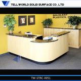 Handelsfester Oberflächenbüro-Vorderseite-Empfang-Schreibtisch-acrylsauerentwurf (TW-MART-099)