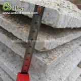 Revêtement rouillé jaune de mur en pierre de champignon de couche du granit G682 pour le mur extérieur