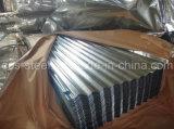Folha de metal em chapa de aço ondulado galvanizado / Folha de aço revestido de zinco