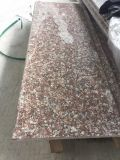 自身の工場からの熱い販売G664の赤い花こう岩のステップ