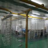Cassa di plastica rotonda del compatto di polvere