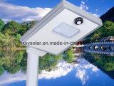 1つの屋外LEDの太陽街灯6Wのすべてを統合した