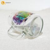 Tarro de masón de cristal transparente cuadrado al por mayor