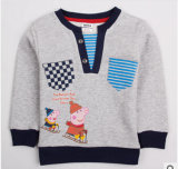Commerce de gros Le nouveau printemps de 2014 Garçons deux vacances Coton T-Shirt à manches longues marque de commerce extérieur des vêtements pour enfants