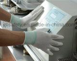 Серый полиэстер безопасности связано с PU покрытием (PN8002)