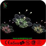 多彩なLEDの花の屋外のクリスマスの装飾