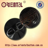 Brushed tinto Polyester Resin Button con Tree Bark Effect (H-1866DN)