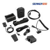 Mini soporte desgastado GPS&WiFi de la cámara de la policía de la vigilancia carrocería infrarroja