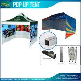 正方形フレームの屋根の上党イベントの玄関ひさしの望楼のおおいのテントを現れなさい