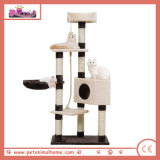 "57 "" 브라운에 있는 큰 Luxury Cat Activity Tree Playing House"