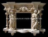 Cornija de lareira de mármore da chaminé (SY-MF038)