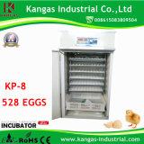 Poulet automatique d'incubateur certifié par CE d'oeufs avec le meilleur prix (KP-8)