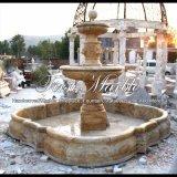Fontana dorata del travertino per il regalo Mf-926