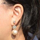 Les femmes Mode bijoux Rhinestone Champagne Pearl Earring
