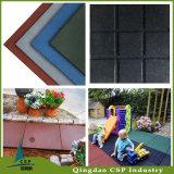 Nattes en caoutchouc d'étage coloré de cour de jeu/tuiles extérieures en caoutchouc d'étage