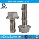A flange principal de aço de Ss304 A2-70 Stainelss Hexagol aparafusa DIN6921