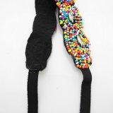 Da faixa elástica Multicolor Handmade retro do cabelo do Headband dos grânulos de Hairbands das mulheres do estilo da forma Rhinestone ondulado Hairwear da configuração