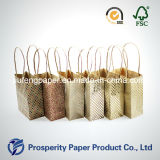 Mini sac à main en papier Kraft imprimé