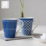파란 색깔 11oz 회사 로고 사기그릇 커피잔 차 찻잔 음료 찻잔