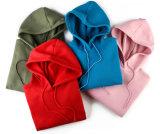 Печатный материал большого размера Клетчатую 80% полиэстера 20% полиэстер спорта женщин в удлиненной худи Pullover