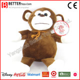Jouet mou de singe de peluche de peluches de cadeau de promotion pour des gosses de bébé