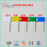 32mm die 5 Farben-Plastikmarkierungsfahne steckt StahlPin fest