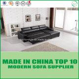 Bâti de sofa en bois en cuir réglé de meubles modernes de salle de séjour