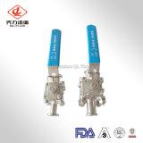 Зажатый шаровой клапан санитарных из нержавеющей стали с стандарт ISO